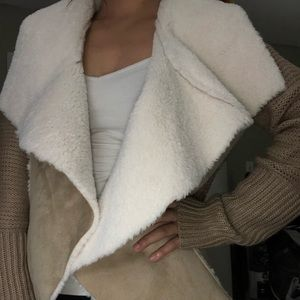 Sweaters - Faux cardigan